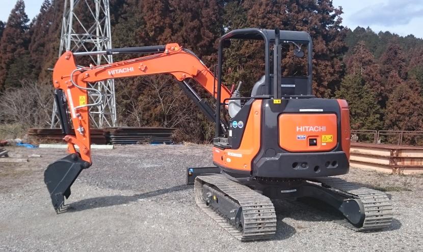 分解式ミニ油圧ショベル・小型掘削機械・アームスイング機能を搭載