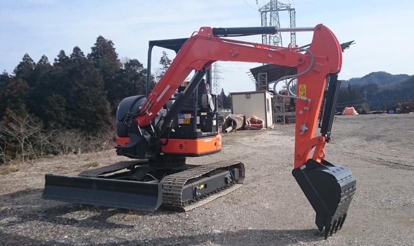分解型ミニ油圧ショベル・小型掘削機械・ユンボ・ブームスイング機能を搭載